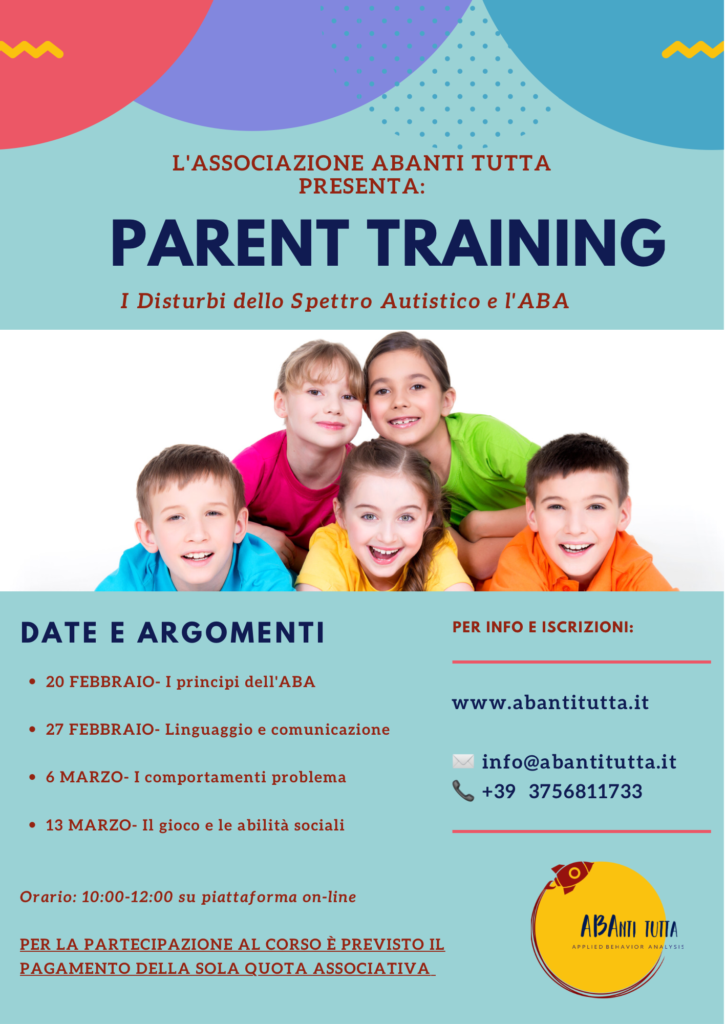 Locandina corso Parent Training